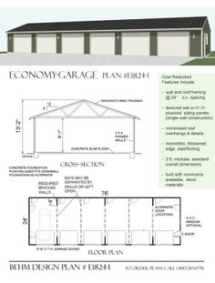 Traditional 4 bay garage with loft in the size of 3068 1 for Garage bay size