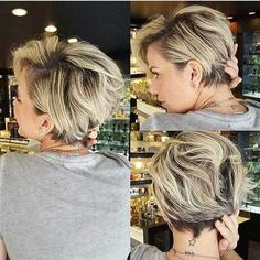 100 Mind-Blowing Short Hairstyles for Fine Hair Blonde Pixie Bob With Dark Roots Haircuts For Fine Hair, Short Hairstyles For Women, Pixie Haircuts, Layered Hairstyles, Blonde Haircuts, Natural Hairstyles, Long Pixie Hairstyles, Sassy Haircuts, Braided Hairstyles