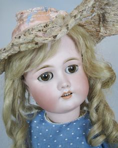 Antique 23' CM Bergman Simon Halbig Bisque Head German Doll