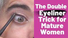Makeup Tips Over 40, Makeup Tips For Older Women, Beauty Makeup Tips, Beauty Hacks, Makeup Tricks, Makeup Tutorials, How To Wear Eyeliner, Best Eyeliner, How To Apply Eyeshadow
