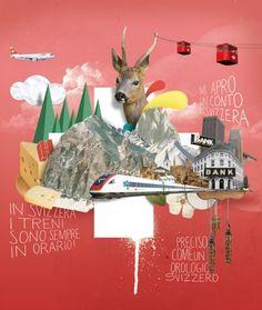 Digital collage illustration Nazario Graziano + Colagene, Illustration Clinic