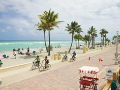 My old beach in Hollywood, FL.  I used to ride my bike there and stop at LeTub for fresh seafood.