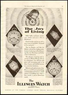 1928 Illinois Watch ad