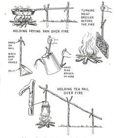 pot hook  and other ways to cook over a fire