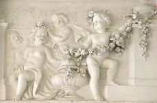 Rococo detail plasterwork at Schloss Benrath in Germany