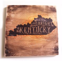 The Sun Shines Bright On My Old Kentucky Home Wood Print By Cardaroo Products