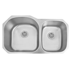 Buy the Signature Hardware 261918 Stainless Steel Direct. Shop for the Signature Hardware 261918 Stainless Steel Infinite Offset Double Basin Stainless Steel Undermount Sink and save. Steel Kitchen Sink, Stainless Steel Kitchen, Black Stainless Steel, Kitchen Sinks, Kitchen Remodel, Undermount Stainless Steel Sink, Undermount Sink, Sinks For Sale