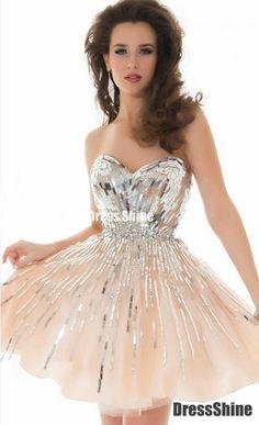 Cream glitter dress