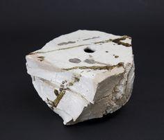 Shozo Michikawa    Small Twist Form  , 2010 Stoneware with Kohiki glaze 4 x 7 x 7 inches / 10.2 x 17.8 x 17.8 cm / SMi 7