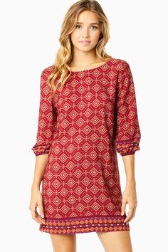 Alexandra Shift Dress in Wine / ShopSosie #shopsosie #sosie
