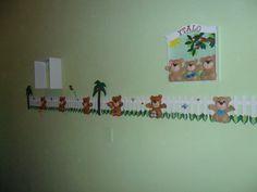 decoração com ursos de feltro