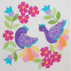 My Tweets quilt by Erin Russek - Block 7   Quilty Stuff