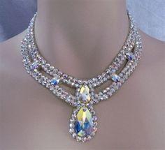 Pear Drop Swarovski Ballroom Necklace