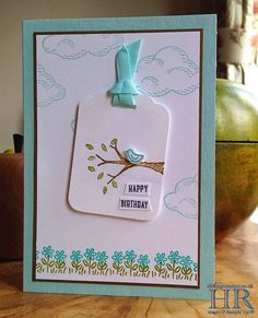 All Things Stampy: Stampin' Up! Sprinkles of Life bird on a branch sneak peek Stampin Up Karten, Stampin Up Cards, Pretty Cards, Cute Cards, Easy Cards, Scrapbooking, Scrapbook Cards, Hand Stamped Cards, Stampin Up Catalog