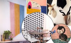 DIY wall hangings, artisan fabric animal busts and kitten wallpaper - allat our spring preview!