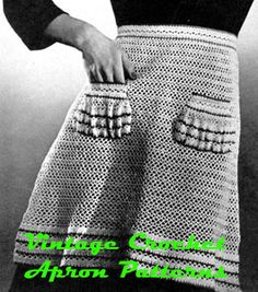 Vintage Crochet Apron Patterns-very cool!  A little advanced for me, but hopefully someday...