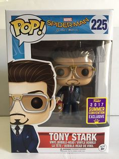 Funko POP Spider-Man TONY STARK 225 Helmet SDCC 2017 Summer Convention Exclusive | eBay