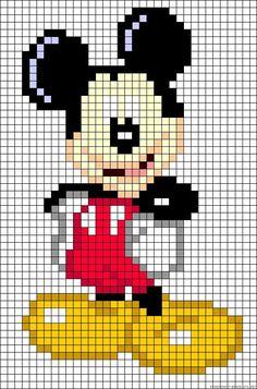 ickey Mouse perler bead pattern - Picmia