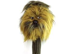 """Hornungs star wars driver headcover chewbacca by Hornungs. $12.23. Star Wars Headcovers... Out Of This World Protection For Your Clubs! Star Wars Character Woods Headcovers feature: Plush Yoda is constructed of polyester fiber and polyurethane foam Darth Vader with shiny soft plastic and polyester fiber and polyurethane foam Finely detailed and built to last 11"""" acrylic knit stocking Driver models easily fit both regular and oversized heads to 460cc Padded foam lining for add..."""