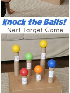 Knock the Balls Down! Nerf Target Game