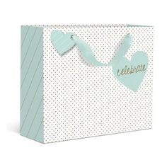Celebrate Heart Small Gift Bag by Graphique de France. Wrap your awesome gift in this chic bag perfect for any occasion to celebrate! $2.50