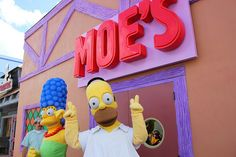 Real life MOE'S Tavern and other Spingfield places! The Simpsons Springfield Fast Food Boulevard at Universal Orlando by insidethemagic, via Flickr