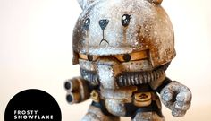 Frosty Snowflake Custom Kidrobot Dunny by Squink! Available Friday!