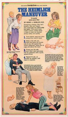 Heimlich Maneuver Poster - - Heimlich Maneuver Poster Life Hacks for Personal Empowerment and Survival Life, Survival Skills, Survival Gear, Survival Weapons, Wilderness Survival, Heimlich Maneuver, First Aid Cpr, Emergency Medicine, Emergency Care