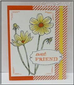 Helping Me Grow was used to make a card for a sweet downline of mine, flowers, Stampin' Up!, #stampinup, created by Connie Babbert, www.inkspiredtreasures.com