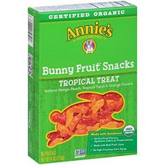 Annies Tropical Treat Organic Bunny Fruit Snacks 5 Pouches Pack of 4 08oz Pouches ** Want additional info? Click on the image.