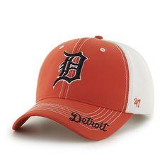 54086f67c5b15 Detroit Tigers 47 Brand Orange Flux Adjustable Hat