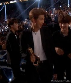 The way Yoongi looks at it is amazing it shows that he really deserves it and is happy with everyone's performance. I'm so proud of them.