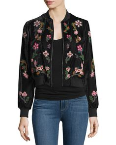 Lonnie+Embellished+Bomber+Jacket+by+Alice+++Olivia+at+Neiman+Marcus.