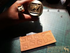 JEWELEECHES: my Chester logo in brass! Love it! Great stamps for my handmade leatherwork! With thanks to www.koekstempel.nl