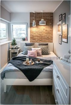 Home Bedroom Apartment House Living room Design Furniture Interior design Very Small Bedroom, Small Bedroom Ideas For Couples, Cozy Small Bedrooms, Small Apartment Bedrooms, Small Bedroom Designs, Small Room Design, Small Room Bedroom, Luxurious Bedrooms, Small Rooms