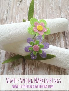 Spring DIY: Simple Spring Napkin Rings
