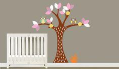 Girls Pattern Vinyl Wall Art Tree Decal  Nursey  by NurseryWallArt, $69.99