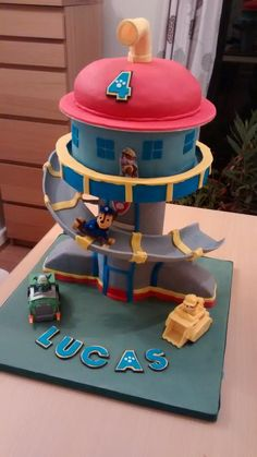 Paw patrol tower cake by Catherine