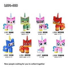 For legoing Super Heroes Friends Movies Unikitty Angry Astro Queasy Biznis Kitty Glasses Building Block Toys legoing Figures Lego Ninjago Movie, Lego Movie, Toy Story Buzz Lightyear, Building Blocks Toys, Superhero Movies, Creative Kids, Lego Sets, Gifts For Kids, Kids Toys