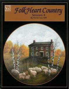 free decorative painting patterns | Elaine Law FOLK HEART COUNTRY SEASONS 4 Decorative Tole Painting BOOK