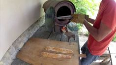 Rocket stove oven cooking - Baking bread