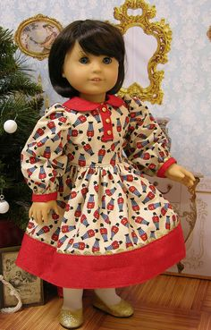 Vintage style dress, 1850s Jacket and Bonnet for American Girl doll - Toy Soldiers. $95.00, via Etsy.