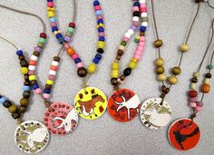 Paleolithic Necklaces by Fourth Grade… Art Lessons For Kids, Art Lessons Elementary, Art For Kids, History For Kids, Art History, Toddler Crafts, Preschool Crafts, Stone Age Ks2, Prehistoric Animals