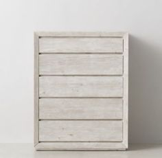 RH TEEN's Callum Tall Dresser:Defined by its clean, contemporary lines bordered by a beveled and mitered frame, our Callum collection is artisan crafted and hand finished for an authentically time-worn appearance.