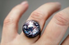 Earth Ring Space Jewelry by isewcute, $18.50