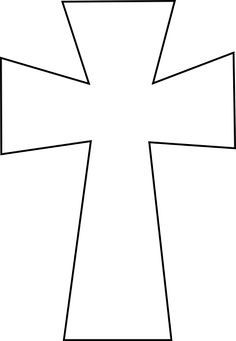 image regarding Printable Cross Pattern known as template for a cross -