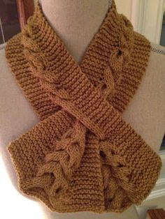 Cabled Keyhole Scarf I made from Knitspot pattern. Easy Scarf Knitting Patterns, Loom Knitting, Baby Knitting, Crochet Baby Dress Pattern, Knit Or Crochet, Tear, Knitting Accessories, Knit Fashion, Couture