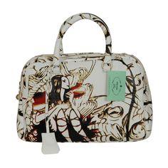 Prada White Sheepskin Fairy Bag...badassery in bag form..love the artwork!