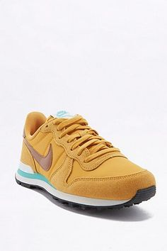 Shop Nike Yellow Internationalist Trainers at Urban Outfitters today. Red Shoes, Look Cool, Latest Fashion, Trainers, Urban Outfitters, Sneakers Nike, Yellow, Spring Time, Style
