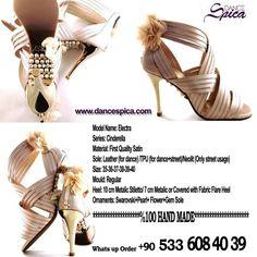 Spica Dance Shoes Cinderella Series Electra Model with Swarovski-Gem Soles- Pearls & Flowers. %100 Hand Made. %100 Custom Made  www.dancespica.com